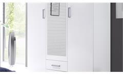 Kleiderschrank Usedom in weiß Drehtürenschrank mit Spiegel Schlafzimmerschrank
