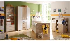 Babyzimmer 2 Corner Kinderzimmer Schrank Babybett Kommode Sonoma Eiche weiß