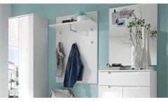 Garderoben Set Spicy 5-teilig weiß Hochglanz Dielenmöbel Flur mit Spiegel