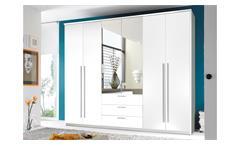 Kleiderschrank Neptun Schrank Schlafzimmerschrank in weiß mit Spiegel 270 cm