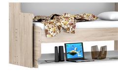 Klappbett Dakotas Schreibtisch Computertisch Kinderbett Bett San Remo Eiche weiß