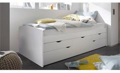 Kojenbett Nessi Tandemliege Bett Kinderbett Hochbett weiß 2 Liegeflächen 90x200