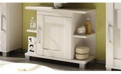 Waschbeckenunterschrank Pontos Badezimmer Badmöbel Bad Schrank Lärche weiß