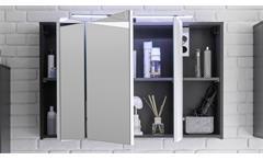Spiegelschrank Manhattan Badezimmer Bad Schrank in Grau mit LED Beleuchtung