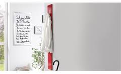 Garderobenpaneel Color rot Hochglanz Diele Flur Wandpaneel mit 2 Klapp-Haken