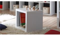 Regalsystem Raumteiler Style Bücherregal weiß mit 1 Fach 1x1