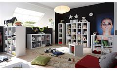 Raumteiler Style Bücherregal Büro Regal Regalsystem in weiß mit 1 Fach 1x1