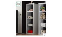 Raumteiler Style Bücherregal Büro Regal Regalsystem in weiß mit 4 Fächern 4x1
