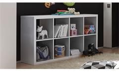 Raumteiler Style Bücherregal Büro Regal Regalsystem in weiß mit 8 Fächern 4x2