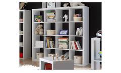 Raumteiler Style Bücherregal Büro Regal Regalsystem in weiß mit 16 Fächern 4x4