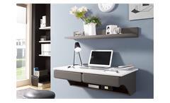 Büro DESK Schreibtisch Paneel Kombi MDF weiß matt und lava