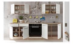 Küchenzeile Welcome X Küche Einbauküche Küchenblock in Sonoma Eiche weiß matt