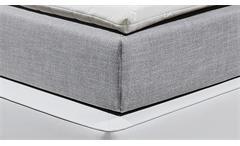 Boxspringbett Ventura 2 grau weiß 7-Zonen mit Topper und Beleuchtung 180x200 cm
