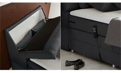 Boxspringbett Concort Bett in Stoff anthrazit inkl. Motor und Topper 120x200 cm