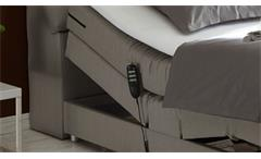 Boxspringbett Concort Bett in Stoff silber inkl. Motor und Topper 120x200 cm