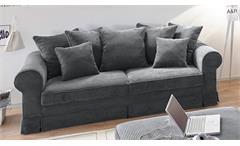 Sofa 2-Sitzer YANKEE Stoff anthrazit Nosagfederung 222 cm
