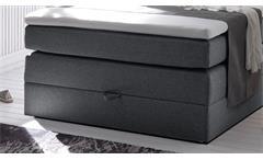 Boxspringbett New Bedford 1 Stoff anthrazit Bonell-Federkern Bettkasten 120x200