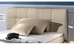 Boxspringbett New Bedford 1 Stoff beige Bonell-Federkern mit Bettkasten 120x200