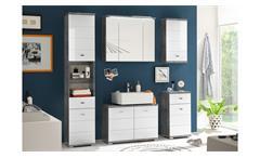 Waschbeckenunterschrank Pool Badezimmer Schrank in Beton grau und MDF weiß