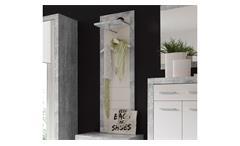 Garderobenpaneel Stone Wandpaneel Paneel in Beton Optik grau und weiß Glanz