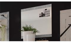 Garderobenspiegel Stone Wandspiegel Spiegel in Beton Optik grau 68x70 cm