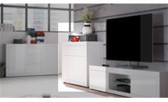 Kommode 1 Paint Sideboard Anrichte Schrank für Wohnzimmer in weiß Lack 107 cm