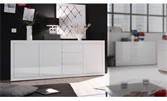 Sideboard Paint Kommode Anrichte Schrank für Wohnzimmer in weiß Lack 203 cm