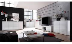 Lowboard Paint TV-Board Fernsehschrank TV-Unterschrank Kommode in weiß Lack 180