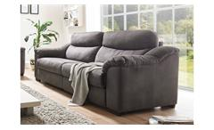 Sofa TAYLER 2,5-Sitzer in Stoff grau mit Massivholzfüßen Breite 216 cm