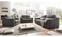 Sofa Tayler 2,5-Sitzer Couch in Stoff grau mit Massivholzfüßen Breite 216 cm