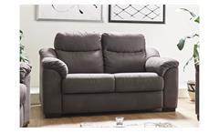 Sofa TAYLER 2-Sitzer in Stoff grau mit Massivholzfüßen Breite 161 cm
