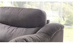 Sofa Tayler 2-Sitzer Couch in Stoff grau mit Massivholzfüßen Breite 161 cm