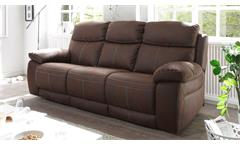 Sofa VERONA 3-Sitzer in Stoff dunkelbraun inkl. Nosagfederung 230 cm