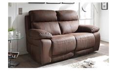 Sofa VERONA 2-Sitzer in Stoff dunkelbraun inkl. Nosagfederung 170 cm