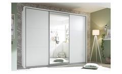 Schwebetürenschrank Bravo Kleiderschrank Schrank 3-türig weiß mit Spiegel 270 cm