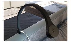 LED Kopfteilbeleuchtung Flexi 2er Set USB Bettleuchte Tischleuchte schwarz matt