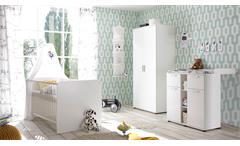 Babyzimmer Bibo 3-teilig weiß Kinderzimmer Komplett Set Schrank Bett