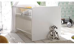 Babyzimmer 1 Bibo Kinderzimmer Komplett Set Schrank Bett Kommode weiß 3-teilig