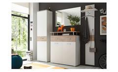 Garderobe Lift Kompaktgarderobe Flurmöbel Dielenmöbel weiß Eiche San Remo 4-tlg