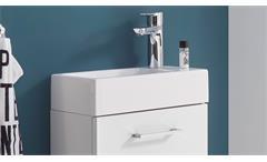 Badezimmer Guest Gäste WC Badmöbel Komplettset weiß matt mit Spiegel inkl Becken