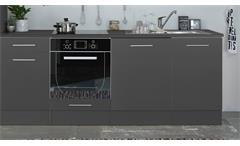 Küchenblock Pepper 310 Küche Küchenzeile Einbauküche anthrazit weiß 310x211 cm