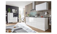 Küchenblock JAZZ 4 Küchenzeile weiß Hochglanz 200 cm