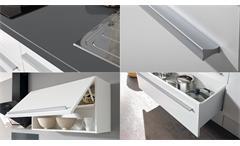 Küchenblock Jazz 4 Küche Küchenzeile Einbauküche weiß Hochglanz anthrazit 200 cm