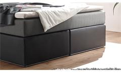 Boxspringbett Cardiff Doppelbett schwarz grau mit Federkern inkl. LED 140x200 cm