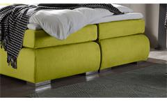 Boxspringbett Ecuador 2 Bett in Stoff grün mit 7-Zonen-TTFK Federkern 180x200 cm
