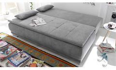Schlafsofa Luigi Dauerschläfer Sofa in Stoff schlamm Federkern mit Topper 208 cm