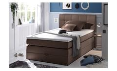 boxspringbett new bedford 1 in stoff braun federkern bettkasten 120 cm. Black Bedroom Furniture Sets. Home Design Ideas