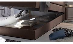 Boxspringbett New Bedford 1 Stoff braun Bonell-Federkern mit Bettkasten 120x200