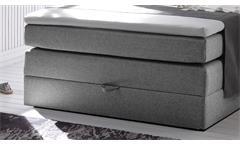 Boxspringbett New Bedford 1 Stoff grau Bonell-Federkern mit Bettkasten 120x200