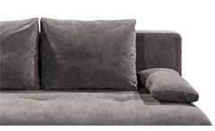 Schlafsofa Sienna 2-Sitzer Sofa Stoff stone grau Federkern mit Bettkasten 204 cm